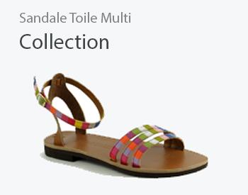 sandale toile multicolor