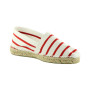 espadrille-thaddee-made in france-bayonne-mariniere rouge-simple-main 2
